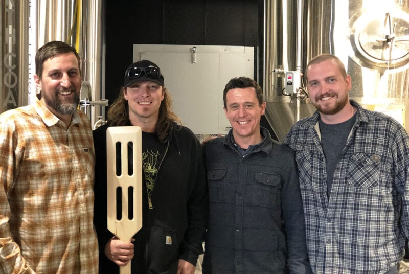 Grid City Beer Works, from left: Drew Reynolds, CEO; Jeremy Gross, head brewer; Justin Belliveau, president; Ian Clare, chef