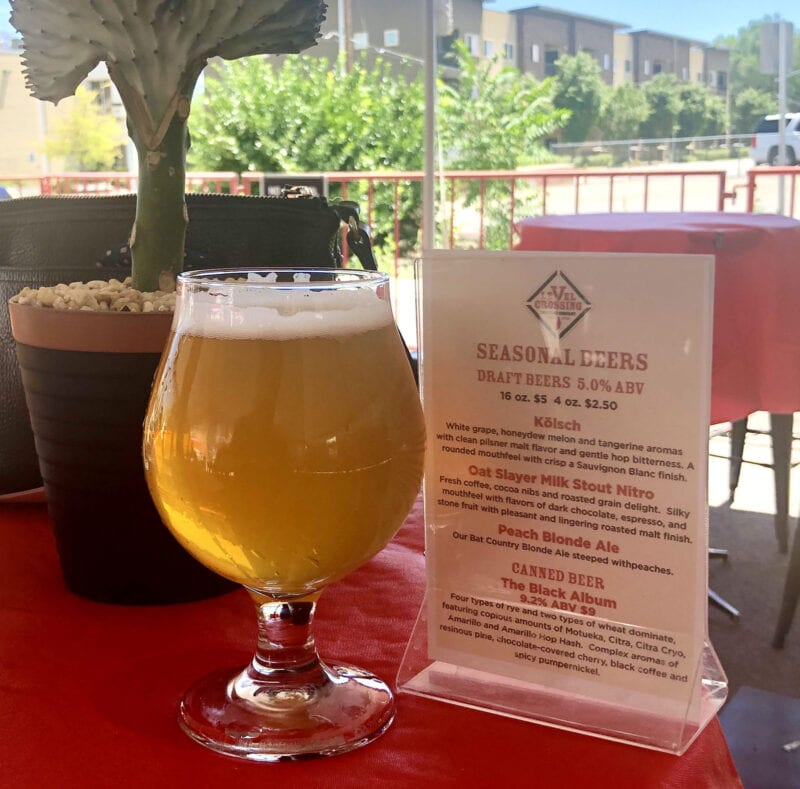 Level Crossing Brewing is one of a few breweries that have added (or extended) a temporary patio.