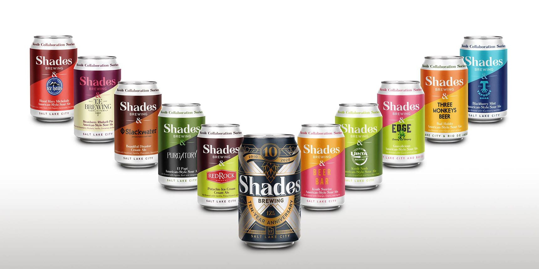 Shades Brewing is celebrating its 10-year anniversary by releasing a series of collaboration beers over the next several weeks. Photo Credit: Shades Brewing