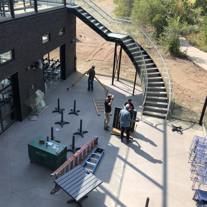 Lower patio at Ogden River Brewing