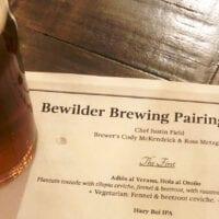 Bewilder Brewing - Beer Pairing Dinner - Featured 2