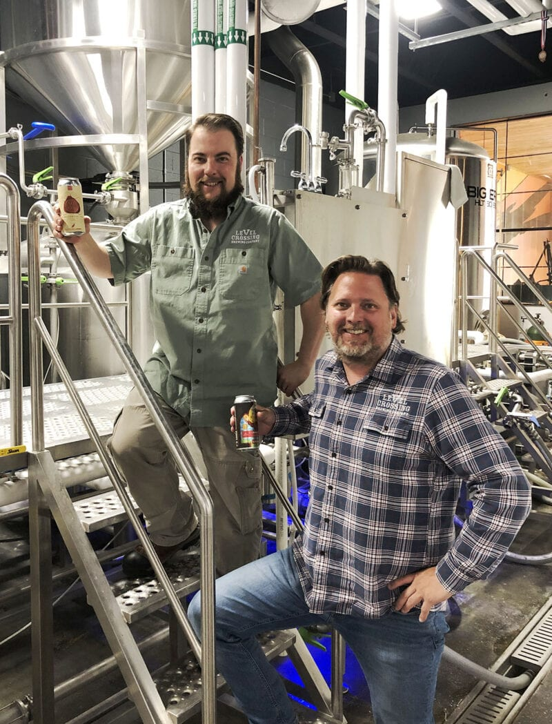 Level Crossing Brewing Founder Mark Medura, right, and Head Brewer Chris Detrick.