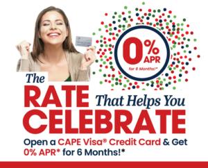 Credit Card 0% APR Graphic