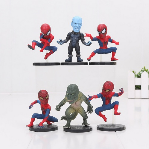 The Amazing Spider Man Mini Action Figures Statues The Lizard Electro 3 inches