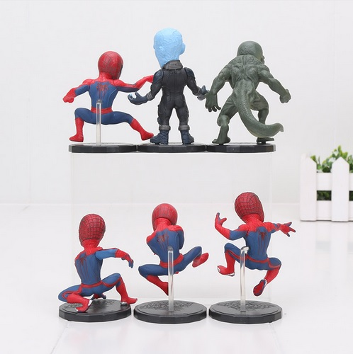 The Amazing Spider Man Mini Action Figures Statues The Lizard Electro 3 inches 1