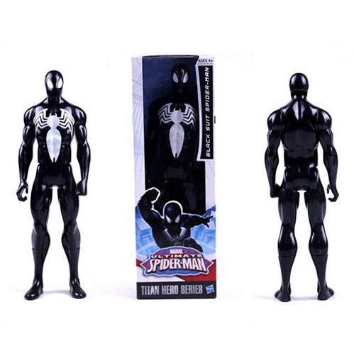 Spider Man Black Suit Marvel Titan Action Figure 12 Inches
