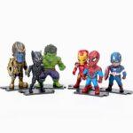 The Avengers Infinity War Mini Figures Thanos Hulk Black Panther Iron Man