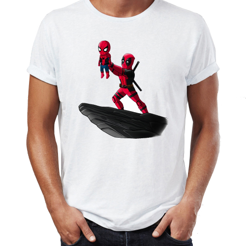 Spider Man Funny Lion King T Shirt for Men with Iron Man and Deadpool 2