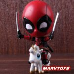 Deadpool with Unicorn Riding Style Collectible Figure 5inch.