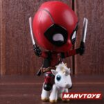 Deadpool with Unicorn Riding Style Collectible Figure 5inch. 2