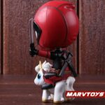 Deadpool with Unicorn Riding Style Collectible Figure 5inch. 4