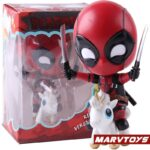 Deadpool with Unicorn Riding Style Collectible Figure 5inch. 6