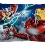 91u50S1lqrL._AC_SL1500_Marvel Avengers Blue Circle Bed Set Full Size 6