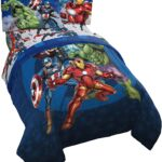 Marvel Avengers Blue Circle Bed Set Full Size