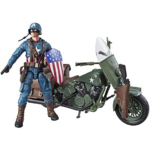 Marvel Legends Series 6″ Captain America Action Figure With Motorcycle World War II