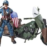 Marvel Legends Series 6″ Captain America Action Figure With Motorcycle World War II, Shield And Helmet 2