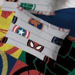 Marvel Superheroes Logo 7 Piece Full Size Bed Set Includes Comforter And Sheet Set 5