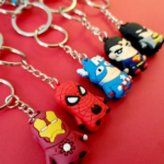 Superheroes Shields and Figures Keychains (10 different designs) 2