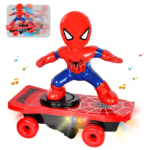 Spider Man Electric Skateboard with Automatic Rotation Sound and Lights 6-inch