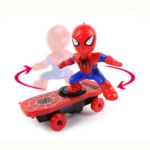Spider Man Electric Skateboard with Automatic Rotation Sound and Lights 6-inch 2
