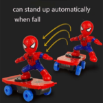 Spider Man Electric Skateboard with Automatic Rotation Sound and Lights 6-inch 5