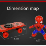 Spider Man Electric Skateboard with Automatic Rotation Sound and Lights 6-inch 7