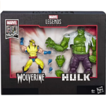 Marvel Legends 80th Anniversary Wolverine and Hulk 2-Pack Action Figures 6-Inch