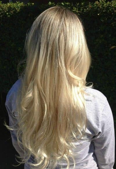 Blonde Long Length hair extensions