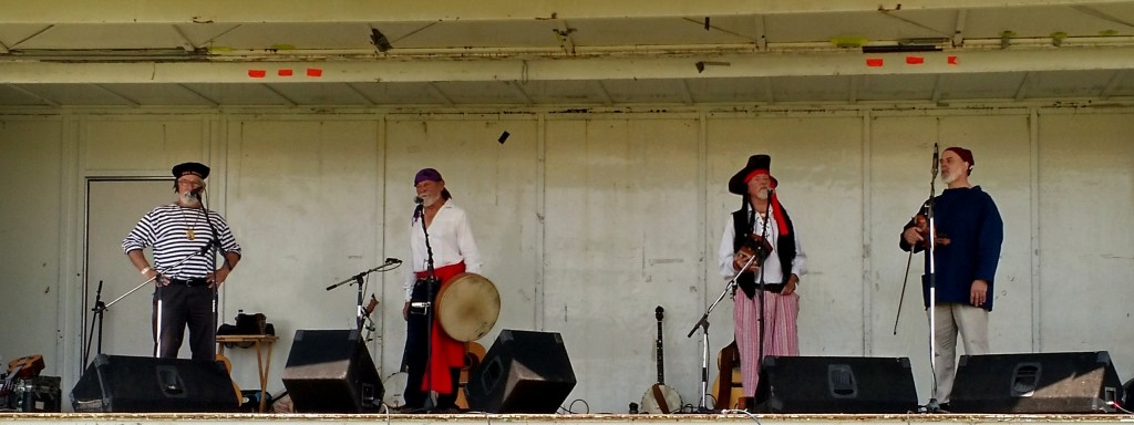 Rum Soaked Crooks performing at the New Bedford Pirate Invasion, 11 July 2015.