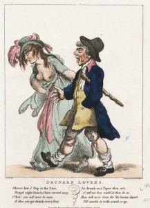 The Drunken Lovers by Thomas Rowlandson - 1798
