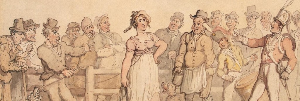 """""""Selling a Wife"""" by Thomas Rowlandson, 1812-14. Repost from The Georgian Bawdyhouse."""