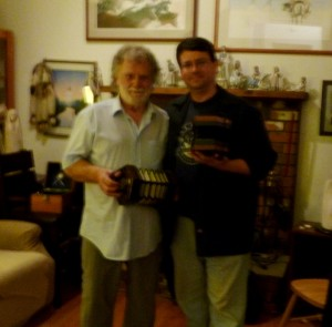 Danny Spooner and Jos. Morneault - June 2013. The picture is a bit hazy but the memory is not!