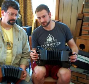 Dan Pardo and Jos Morneault - concertinas in duet - 3 May 2014