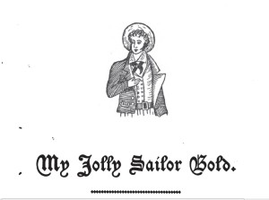 """Detail from the book """"Real Sailor Songs"""" by John Ashton, 1891."""
