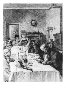 """The Vauquer Boarding House Illustration from """"Le Pere Goriot"""" by Honore De Balzac 1900'"""