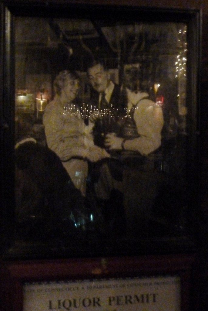 Not a great picture of the framed photo at the end of the bar in the Gris tap room... Governor Ells Grasso, Bill Winterer, and Cliff Haslam taken back in the 70s.