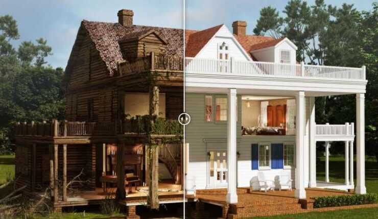 he Notebook House before after