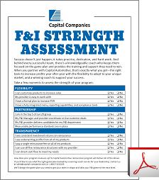 F&I Strength Assessment