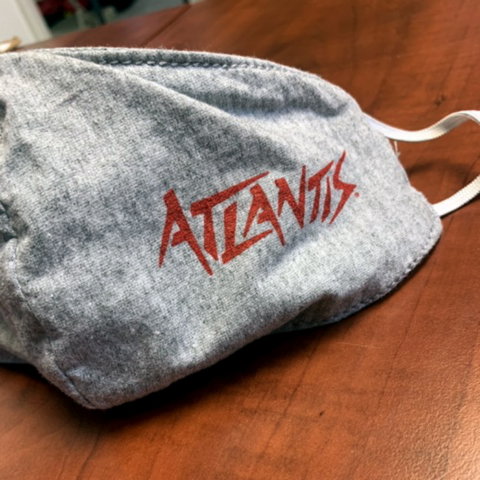 Custom PPE Face Mask or Face Cover Cloth with Atlantis Sportswear Logo