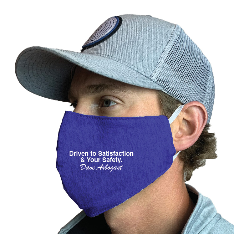 Dave Arbogast Auto Group Custom Face Mask Design