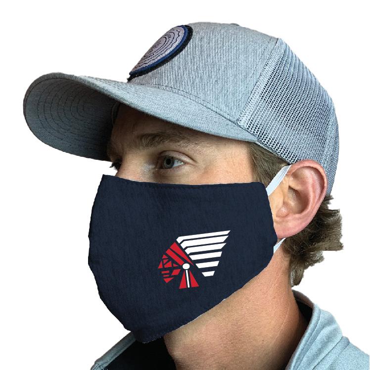Piqua Indians Custom Face Mask Design 1