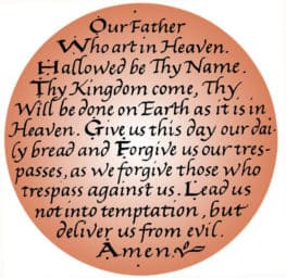 words of The Lord's Prayer