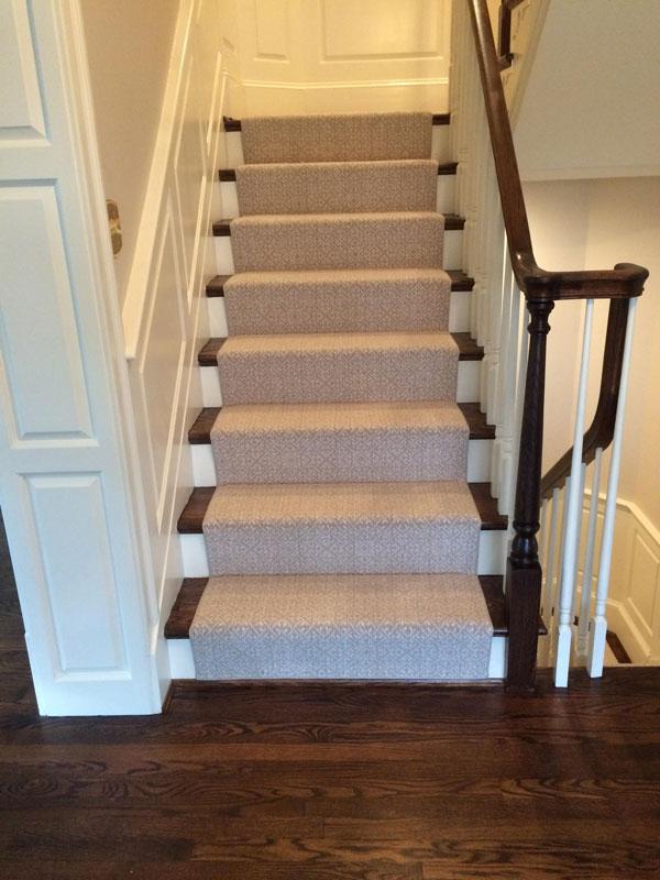 Stair Masters Farsh install Light Tan Carpet Stair Runner