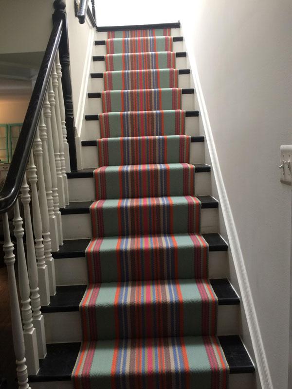 Multiple colors of Stripes Stair Runner