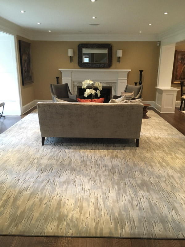 Large Area Rug for Traditional Living Space Custom Carpet by Farsh Carpets and Rugs