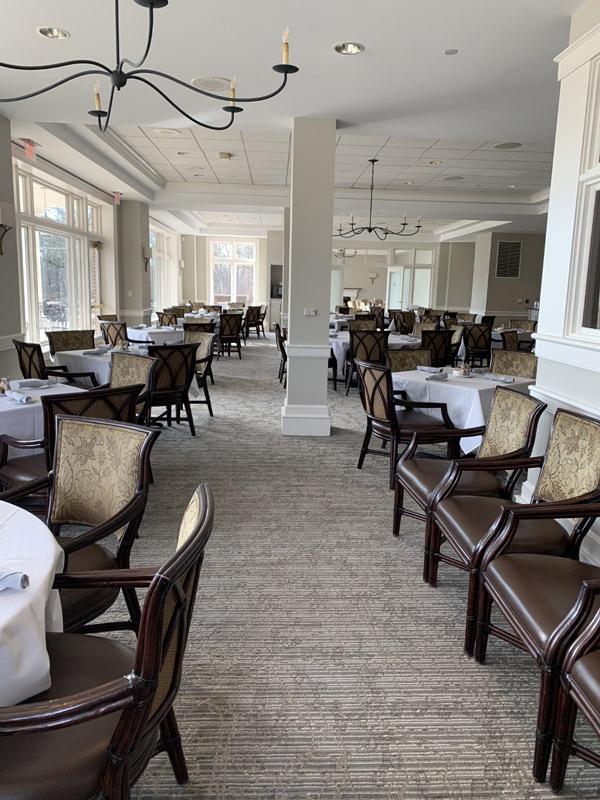 Restaurant Venue Neutral Carpeting by Farsh Carpets and Rugs