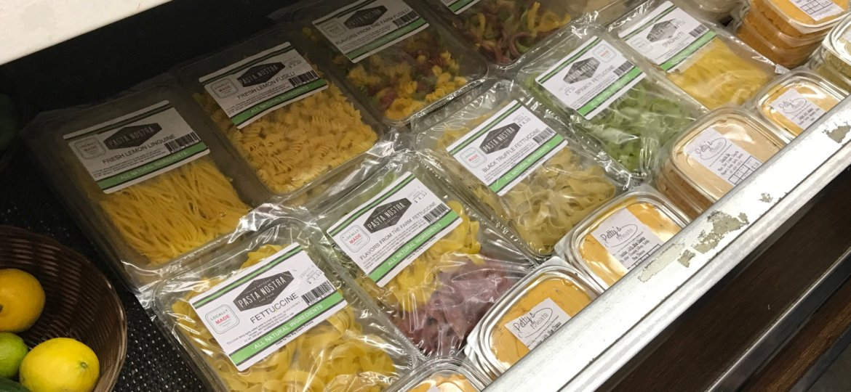 fresh pasta in store