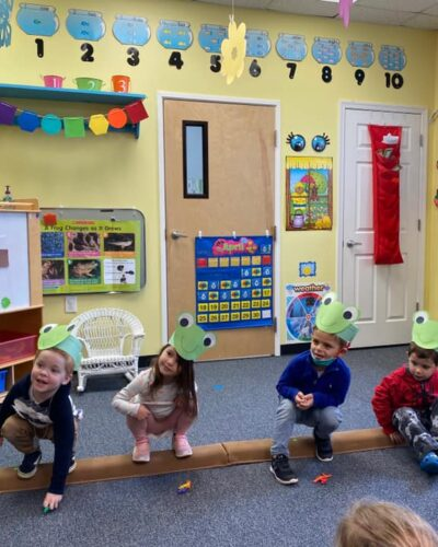 Preschoolers learning about nature