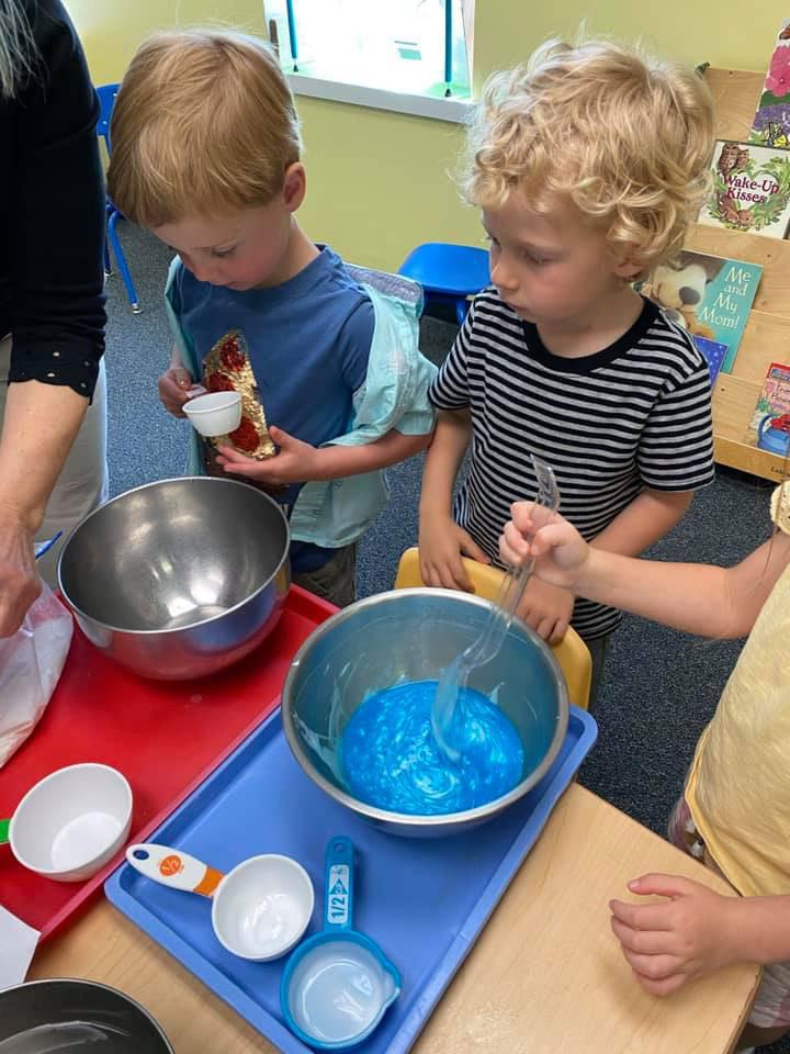 Preschoolers learning by doing