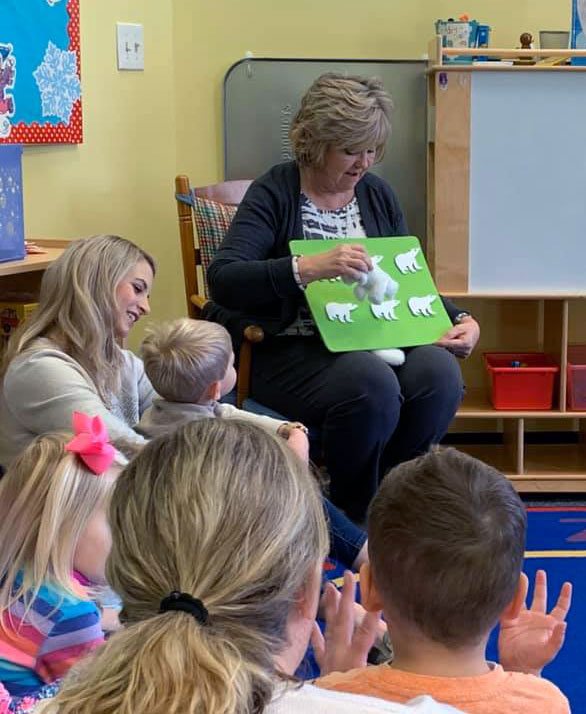 Our teacher at story time